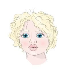 Portrait Child vector image