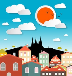 Prague City - Czech Republic in Europe vector image