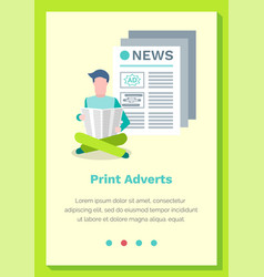 print adverts web page or site vector image