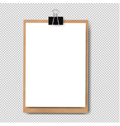 Realistic clipboard isolated vector