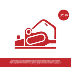 red electric planer tool icon isolated on white vector image