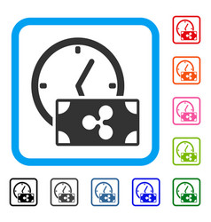ripple credit time framed icon vector image