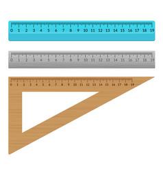 Ruler school flat centimeter scale inch rule vector