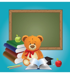 School Teddy Bear vector