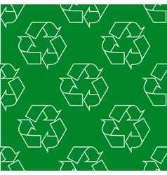 Seamless pattern with ecology signs and icons vector image