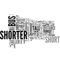 Shorter word cloud concept vector