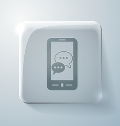 Smartphon cloud of speaking dialogue Glass icon vector