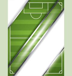 soccer ball brochure vector image