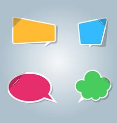 Speech bubbles icon dialog box info vector