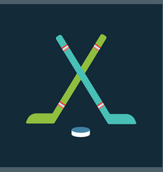 Sport team hockey badge vector
