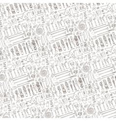 Spring garden pattern backgroundToolsplants vector image