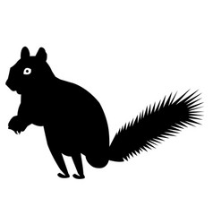 squirrel silhouette icon eps vector image