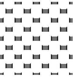 steel fence pattern seamless vector image