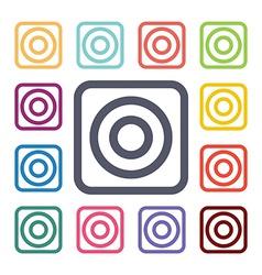 Target flat icons set vector