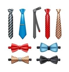 Tie And Bow Tie Set vector