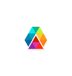 triangle colorful shape logo vector image