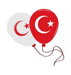 Turkey in balloons vector