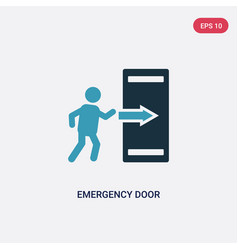 Two color emergency door icon from signs concept vector