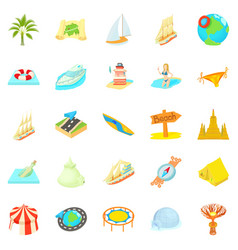 unstoppable fun icons set cartoon style vector image