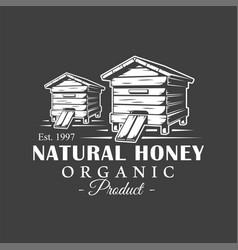 Vintage honey label vector
