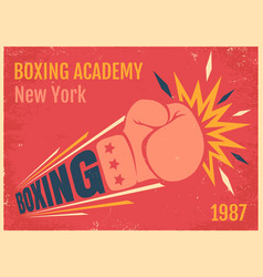 vintage poster for a boxing vector image