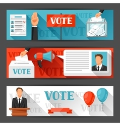 Vote political elections banners backgrounds vector