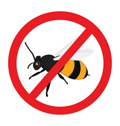 Warning sign bee vector