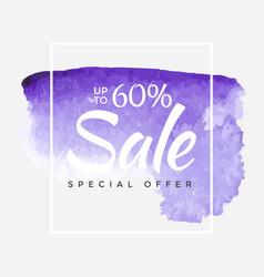 watercolor special offer super sale flyer banner vector image