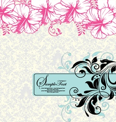 Wedding card or invitation vector image