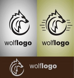 wolf logo vector image