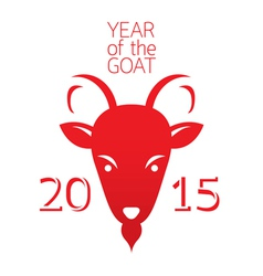 Year of Goat 2015 vector image