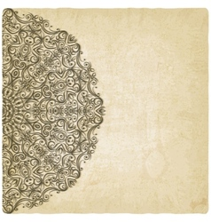 Ornate mehndi old background vector image vector image