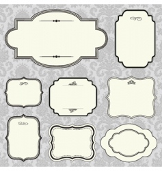 rounded frame set and pattern vector image vector image