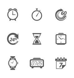 time concept icons vector image