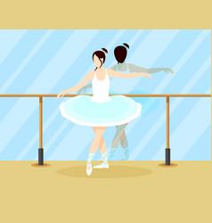 Colorful ballet dancer concept vector