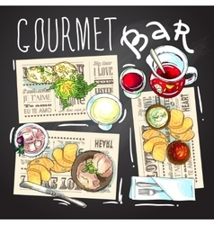 Gourmet bar vector image