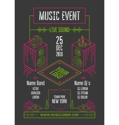 Music event poster vector image vector image