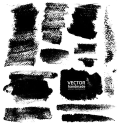 Strokes of black ink on textured paper vector image