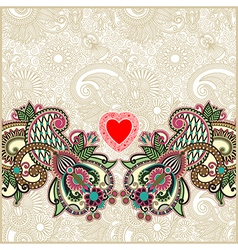 Valentin Day card with heart vector image