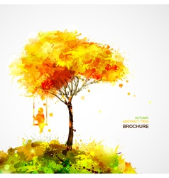 Abstract autumn background design vector image