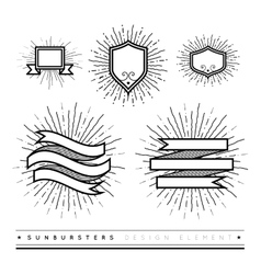 Hipster style vintage set with starbursts ray vector image vector image