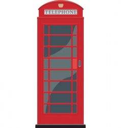 red telephone booth in London vector image vector image