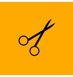 Scissors symbol isolated on white background vector image