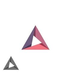 Triangle logo mockup tech shape geometric simple vector image