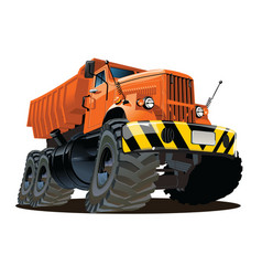cartoon dump truck 6x6 vector image