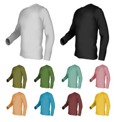 long sleeve blank t-shirt template vector image