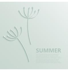 modern dandelions pattern background vector image