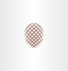 pinecone icon sign element design symbol vector image vector image