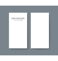 Template set of vertical web vector