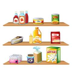 Three wooden shelves vector image vector image